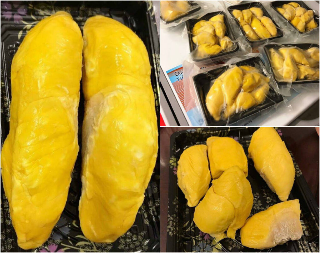 Durian musang king inside yellow